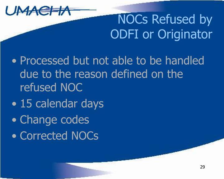 NOCs Refused by