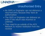 unauthorized entry