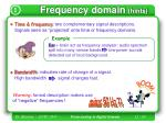 frequency domain hints