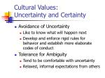 cultural values uncertainty and certainty