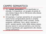 campo semantico