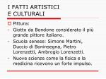 i fatti artistici e culturali1