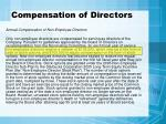 compensation of directors
