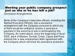 meeting your public company prospect just as she or he has left a job