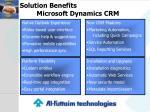 solution benefits microsoft dynamics crm