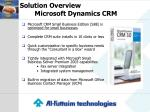 solution overview microsoft dynamics crm