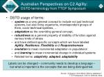 australian perspectives on c2 agility dsto terminology from ttcp symposium