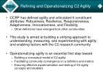 refining and operationalizing c2 agility