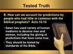 tested truth1
