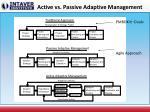 active vs passive adaptive management