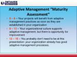 adaptive management maturity assessment
