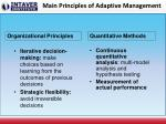 main principles of adaptive management