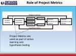 role of project metrics