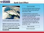 sunk cost effect