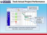 track actual project performance