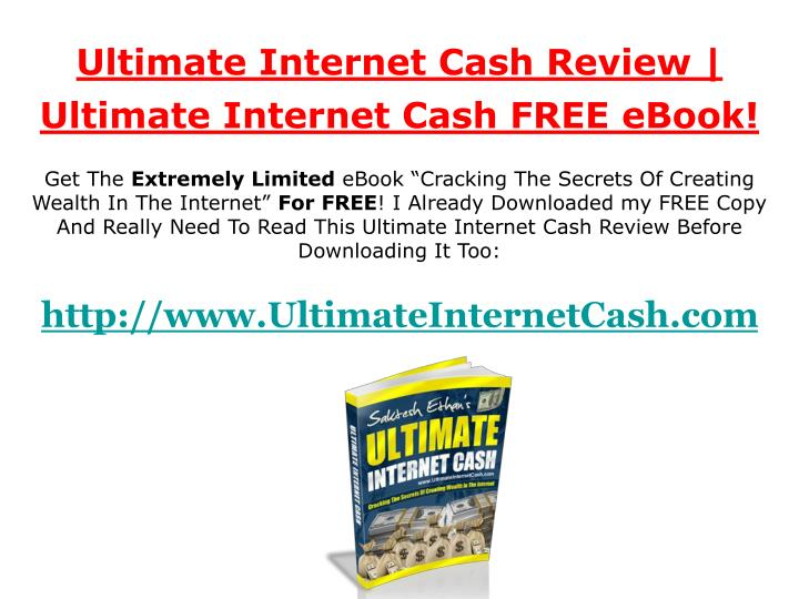 Ultimate Internet Cash Review |