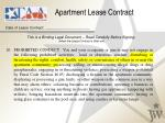 apartment lease contract date of lease contract