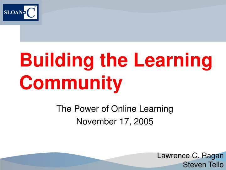 building the learning community n.