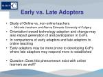 early vs late adopters