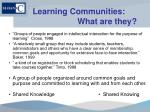 learning communities what are they