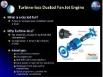 turbine less ducted fan jet engine