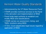 vermont water quality standards