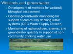 wetlands and groundwater