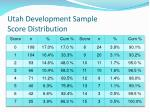 utah development sample score distribution