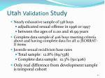 utah validation study