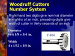 woodruff cutters number system