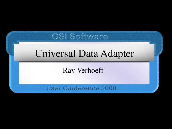 universal data adapter n.