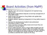 board activities from mapp