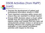 dsob activities from mapp cont