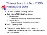 themes from the four dsob meetings to date