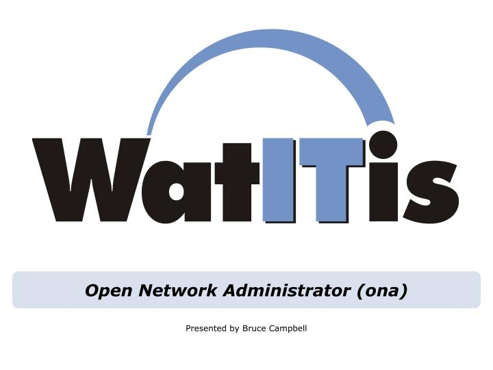 open network administrator ona n.