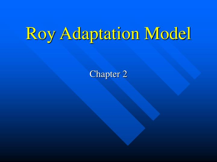 roy adaptation model n.