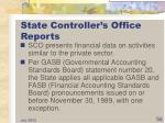 state controller s office reports