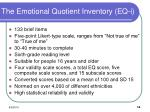 the emotional quotient inventory eq i