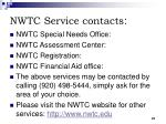 nwtc service contacts