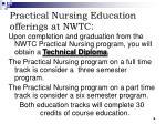practical nursing education offerings at nwtc