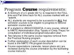 program course requirements