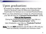 upon graduation