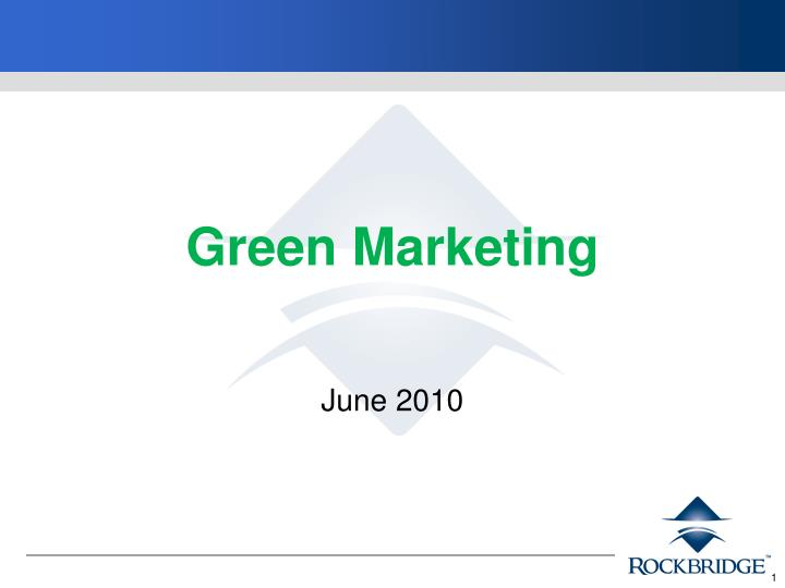 green marketing n.