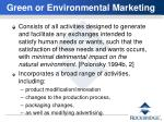 green or environmental marketing