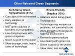 other relevant green segments