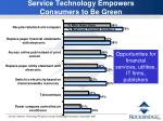 service technology empowers consumers to be green