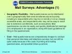 mail surveys advantages 1