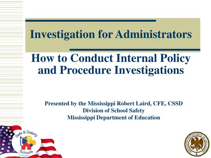 investigation for administrators how to conduct internal policy and procedure investigations n.