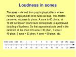 loudness in sones
