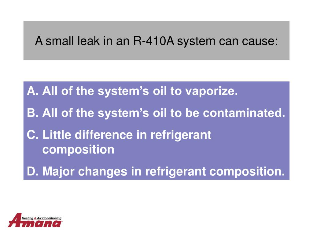 PPT - R-410a Refrigerant Cycle Diagnostics PowerPoint Presentation
